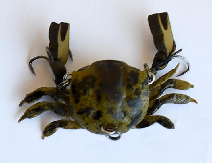 Winners Lure Customised Olive Cranka Crab - Hobie Kayak Fishing Series