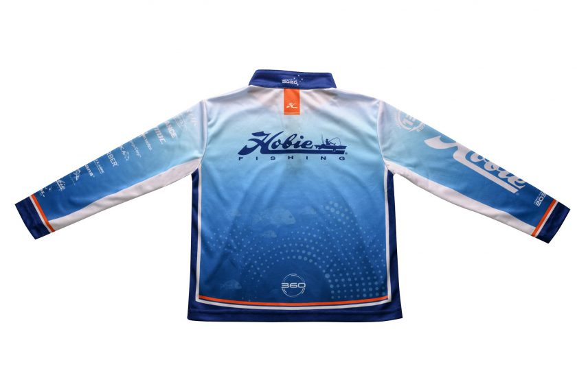SERIES 12 HOBIE KAYAK FISHING JERSEY BACK VIEW