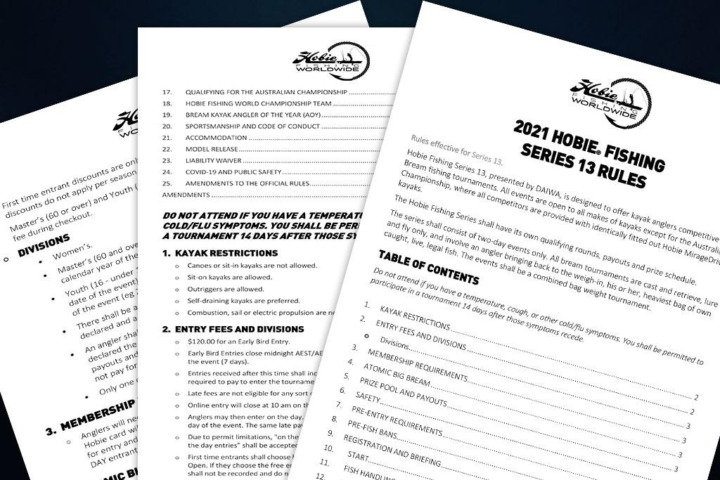 hobie-kayak-bream-fishing-2021-rules